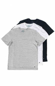 (09TCR01-099) 3 Pack Cotton Classic Crewneck T-Shirts - White/Grey/Navy