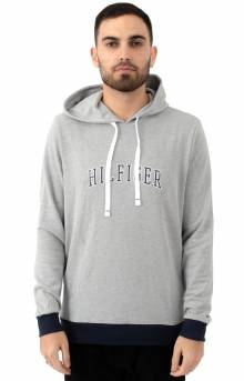 Arch Graphic Terry Pullover Hoodie - Grey