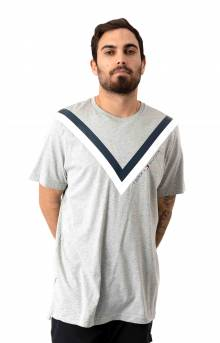 Chevron Stripe T-Shirt - Heather Grey