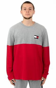 Color Block Logo L/S Shirt - Grey