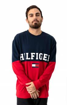 Colorblock Crewneck - Dark Navy
