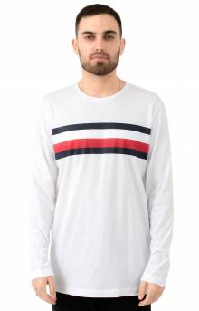 Logo Stripe L/S Shirt - White
