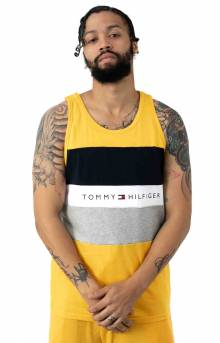 Modern Essentials Color Block Tank Top - Saffron