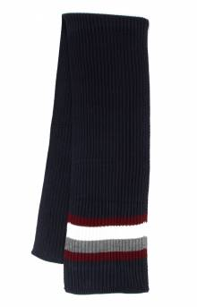 Global Stripe Rib Scarf - Navy