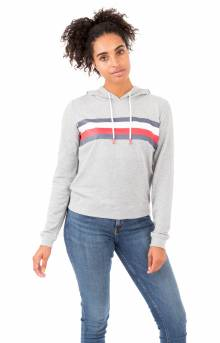 (R27S034) Global Stripe Pullover Hoodie - Grey