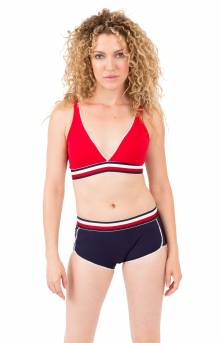 (R70T039) Sporty Lounge Bralette - Tango Red