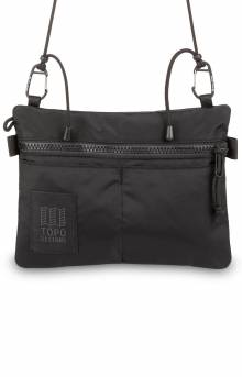 Carabiner Shoulder Accessory Bag - Black/Black