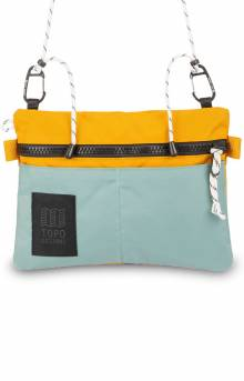 Carabiner Shoulder Accessory Bag - Sage/Mustard