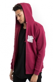 Undefeated Clothing, Strike Undefeated Zip-Up Hoodie - Burgundy
