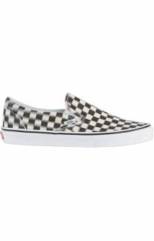 (38FVJM) Blur Check Classic Slip-On Shoe - Black/White