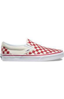 (8F7P0T) Primary Check Classic Slip-On Shoe - Racing Red