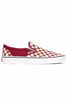 (8F7VLW) Checkerboard Classic Slip-On Shoe - Red