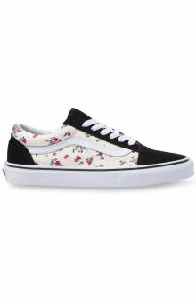 (8G116Z) Ditsy Floral Old Skool Shoes - Classic White/True White