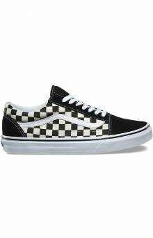 Vans (8G1POS) Primary Check Old Skool Shoe - Black White 0647701ac1f
