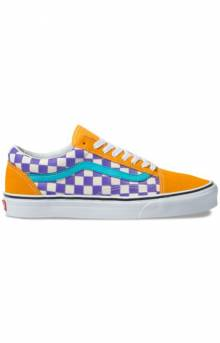 (8G1VKH) Thermochrome Checker Old Skool Shoe - Purple/Magenta