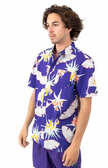 Arachnofloria Button-Up Shirt - Purple