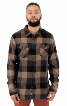 Box Flannel Button-Up Shirt - Dirt/Black
