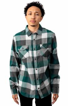 Box Flannel Button-Up Shirt - Trekking Green