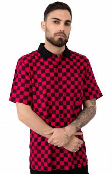 Checker Camp Button-Up Shirt - Jazzy/Black
