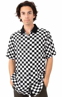 Checker Camp Button-Up Shirt - White/Black