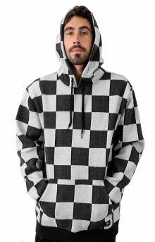 Checker Jacquard Pullover Hoodie - Black/White