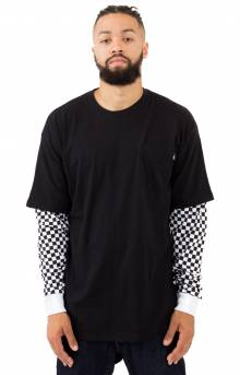 Checker Sleeve L/S Shirt - Black