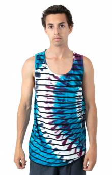 Checker Stripe Tank Top - Tie-Dye