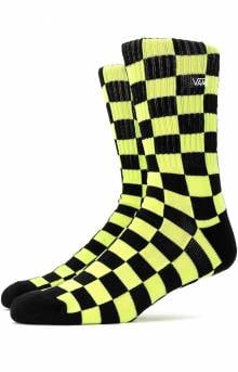Checkerboard Crew Socks - Sharp Green