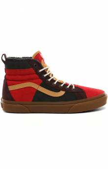 (DQ5TUA) SK8-HI 46 MTE DX Shoes - Poinsettia/Forest Night