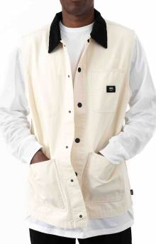 Drill Chore Canvas Vest - Seed Pearl