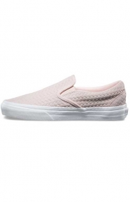 Vans Clothing, Embossed Woven Suede Classic Slip-On Shoe - Rosewater