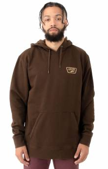 Full Patched Pullover Hoodie - Demitasse