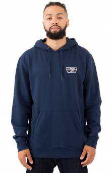 Full Patched Pullover Hoodie - Dress Blue