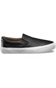 Havana Perf Classic Slip-On Shoe - Black