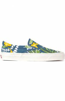 (JEXWVQ) Anaheim Factory Classic Slip-On 98 DX Shoes - OG Aloha Navy