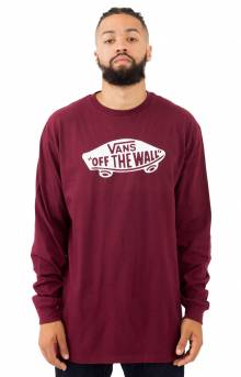 OTW L/S Shirt - Burgundy/White