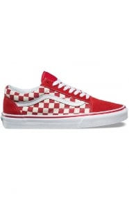 Primary Check Old Skool Shoe - Racing Red