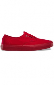 Vans Clothing, Primary Mono Authentic Shoe - Red/Silver