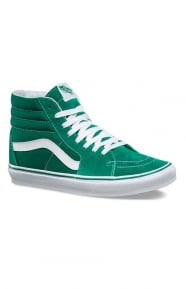 Vans Clothing, Suede Canvas Sk8-Hi Shoe - Ultramarine Green