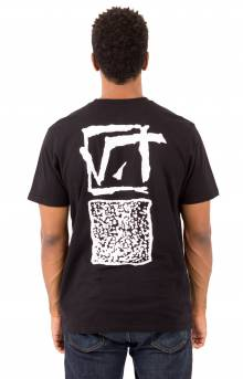 Vintage Square T-Shirt - Black
