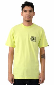 Warped Check T-Shirt - Sunny Lime