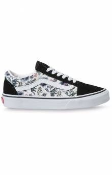 (WKT4QG) Paradise Floral Old Skool Shoes - Orchid