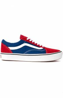 (WMAVX1) ComfyCush Old Skool Shoe - Chili Pepper/True Blue