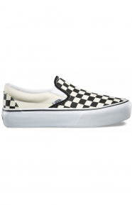 (18EBWW) Classic Slip-On Platform Shoe - Checkerboard