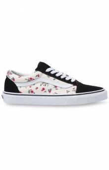 (8G116Z) Ditsy Floral Old Skool Shoe - Classic White/True White