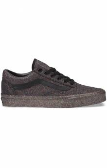 (8G1UKN) Rainbow Glitter Old Skool Shoe - Black