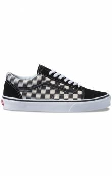 (8G1VJM) Blur Check Old Skool Shoe - Black/Classic White