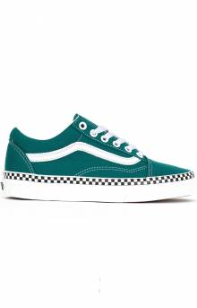 (8G1VR0) Check Foxing Old Skool Shoe - Green