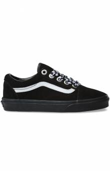 (8G1VR1) Check Lace Old Skool Shoe - Black/Black