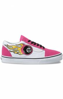 (8G1VRG) Magic Oracle Old Skool Shoe - Carmine Rose/True White